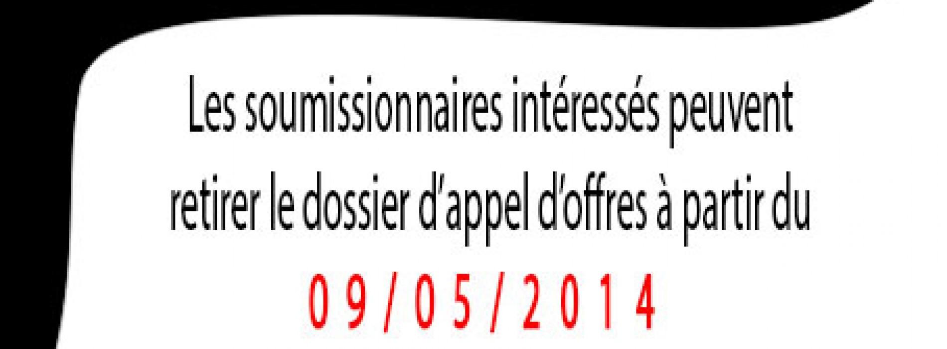AVIS D'APPEL D'OFFRES OUVERT N°0015 /05/14/CRM/CRF-2014