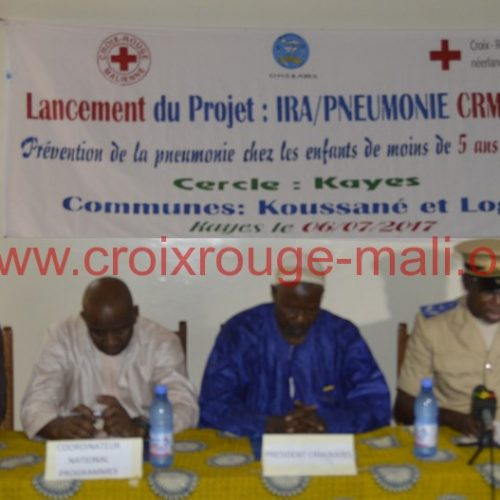 Lancement du projet de prévention de la pneumonie chez les enfants de moins 5 ans à Kayes